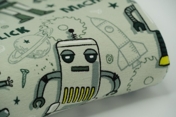 French Terry Robot Mint