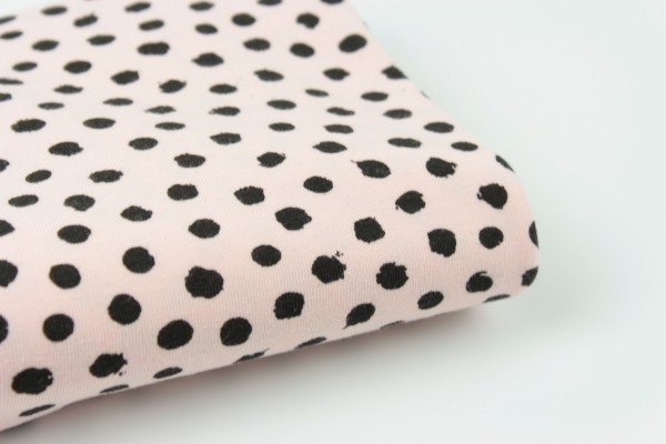 Bio Jersey Krikkel Dots Light Rosa