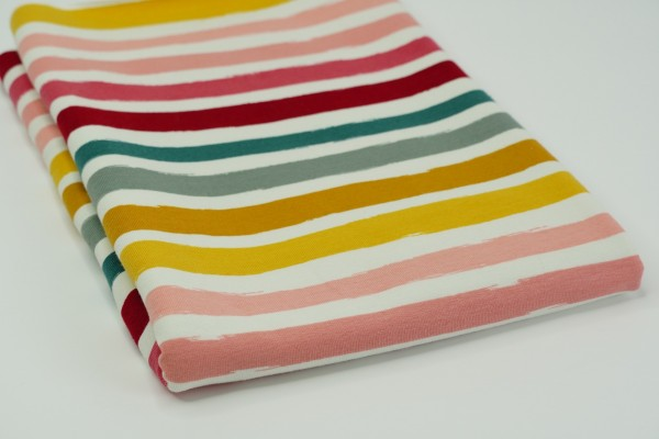 French Terry Rainbow Stripes Two