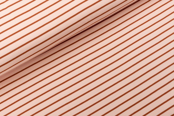 French Terry Stripes Blush