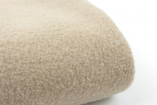 Walkloden aus 100% Wolle Light Taupe