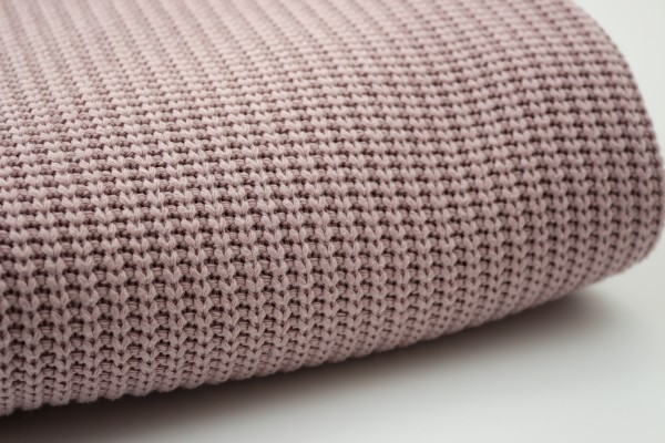 Baumwollstrick Cable Dusty Rose