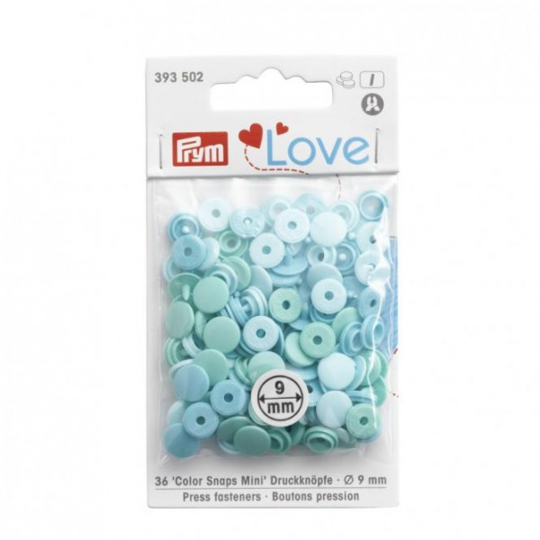 Prym NF Color Snaps Mini Mischpackung 9mm in Mint
