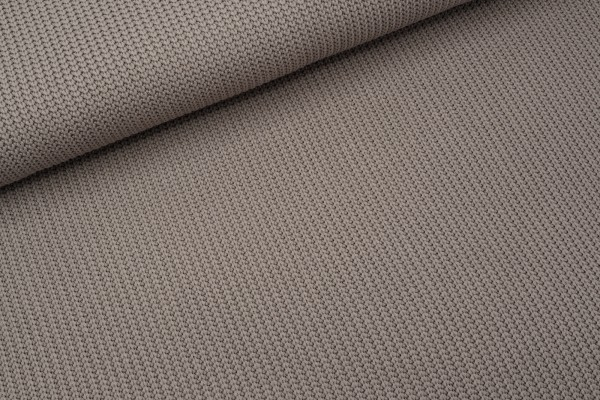 Baumwollstrick Cable Taupe