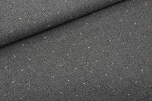 Viscose Dobby Grey Gold