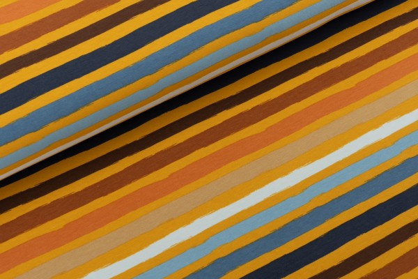 French Terry Multi Colour Stripes One