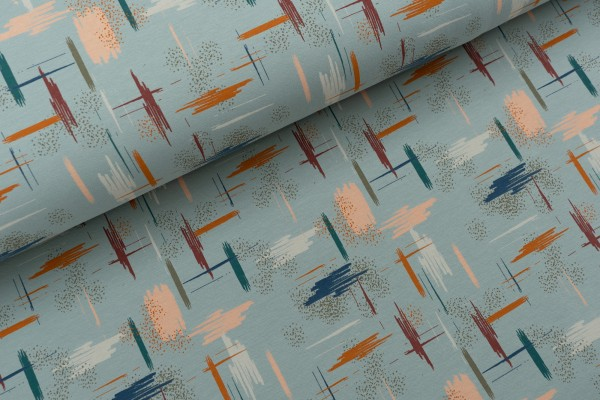 French Terry Brushed IKAT Jade