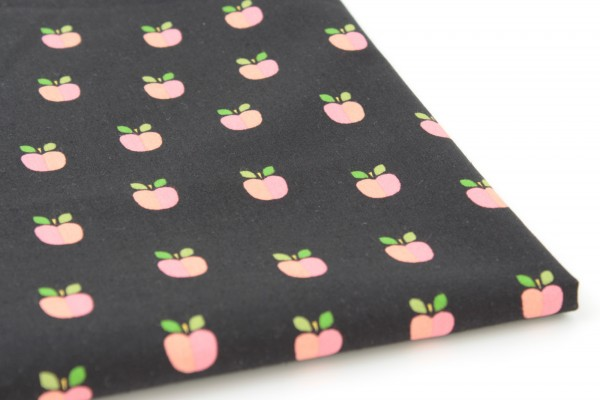 Baumwolle Lovely Apple Black