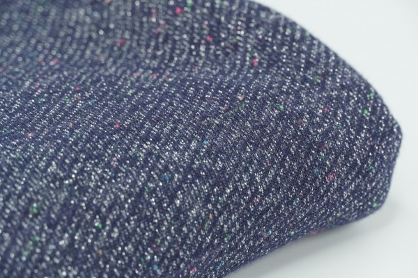 French Terry Jogging Glitter Blue